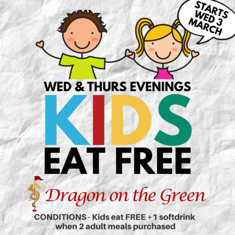 Newsletter KIDS EAT FREE Dragon on Green (2)